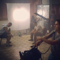 Final scene, filming in Eagle Rock, LA